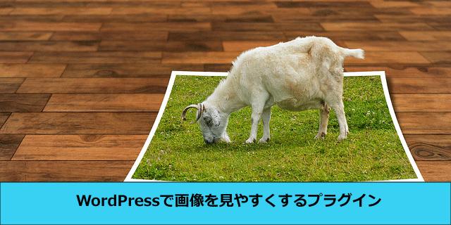 WordPressで画像を見やすくするプラグイン